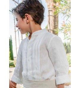 Camisa niño bastas lino