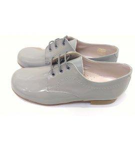 Zapato cordón CHAROL GRIS