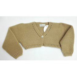 Chaqueta lana corta camel