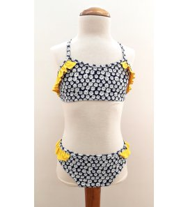 Bikini margaritas marino y amarillo