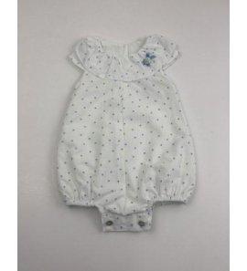 Pelele bebé topos celeste