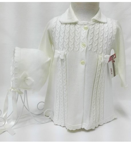 Abrigo bebé lana beige