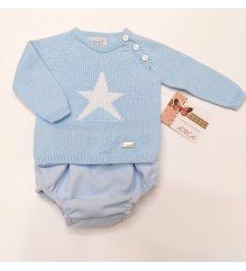 Conjunto niño jersey estrella