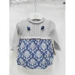 Pelele lana estampado azul