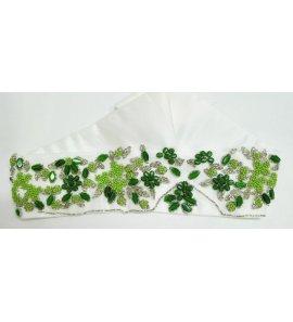 Fajín blanco/verde