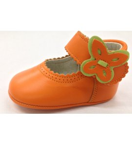 Zapato bebé naranja