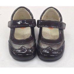 Zapato piel charol marrón