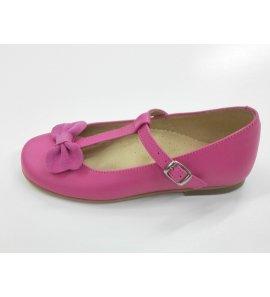 Zapato piel FUCSIA