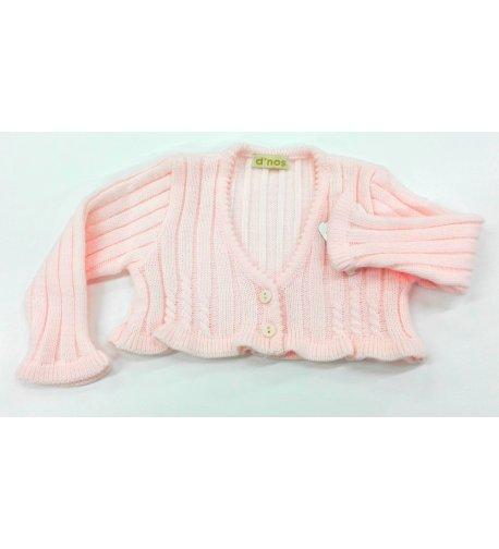 e0c52b208 Chaqueta lana canalé rosa - Arca Boutique Infantil-Juvenil