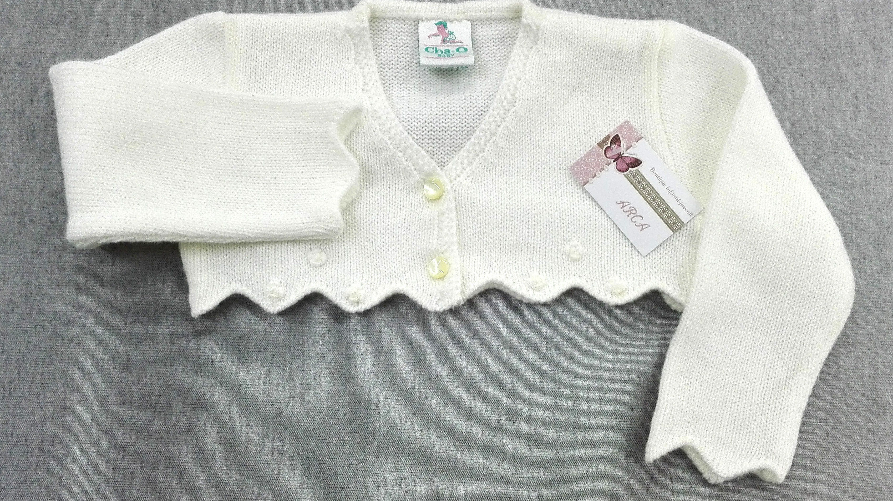 d2c933f6d Chaqueta lana BEIGE puntas - Arca Boutique Infantil-Juvenil