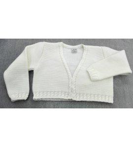 Chaqueta lana trenza BEIGE