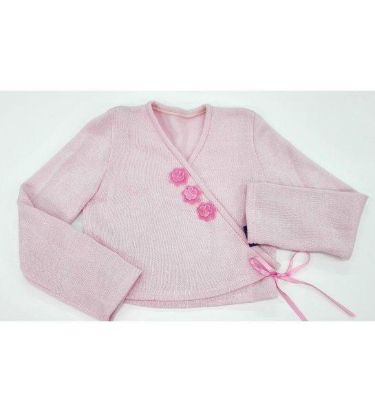 6b321a190 Chaqueta lana flores ROSA - Arca Boutique Infantil-Juvenil
