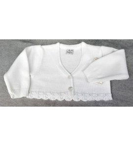 Chaqueta lana bebé BLANCA