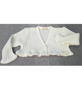 Chaqueta lana canalé BEIGE