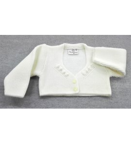 Chaqueta lana bordado BEIGE