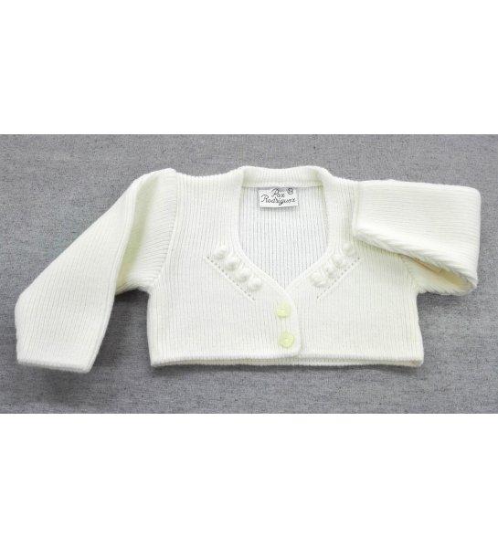 34dfbed16 Chaqueta lana bordado BEIGE - Arca Boutique Infantil-Juvenil