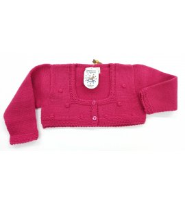 Chaqueta lana ROSA OSCURO