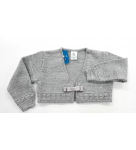 Chaqueta lana lazo GRIS PERLA