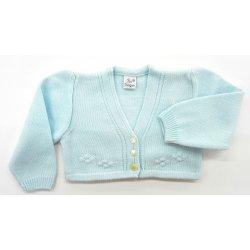 Chaqueta bebé lana CELESTE