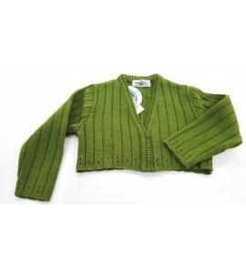 Chaqueta lana canalé VERDE