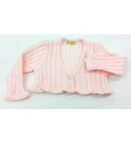 Chaqueta canalé lana ROSA