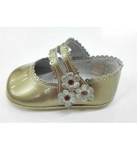Zapato bebé piel ORO