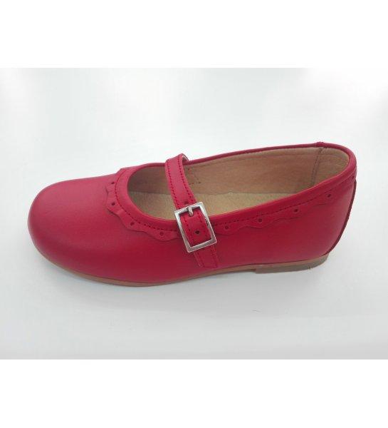 ac026c72 Infantil piel rojo Zapato Arca Boutique Juvenil 4Inqd