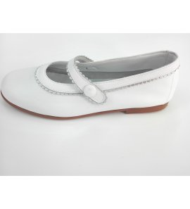 Zapato blanco-plata