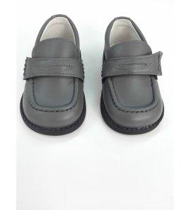 Zapato mocasin PIEL GRIS