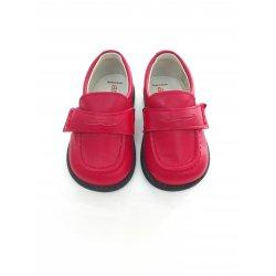 Zapato mocasin PIEL ROJO