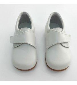 Zapato velcro piel BEIGE