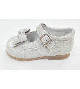 Zapato pitón charol gris