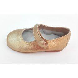 Zapato oro botón