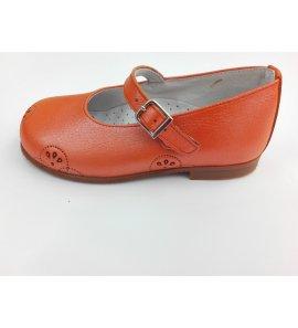Zapato nacar naranja