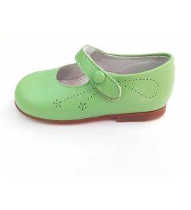 Zapato piel pistacho