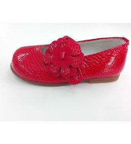 Zapato niña charol pitón ROJO