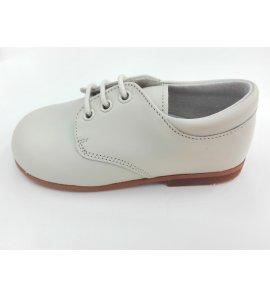 Zapato niño cordón piel BEIGE
