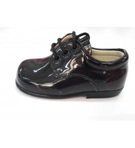 Zapato cordón CHAROL NEGRO