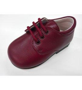 Zapato cordón PIEL GRANATE
