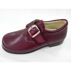 Zapato piel hebilla GRANATE