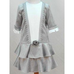 Vestido terciopelo gris
