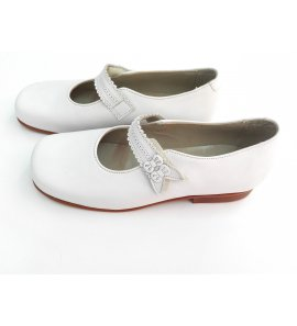 Zapatos niña PIEL BLANCO