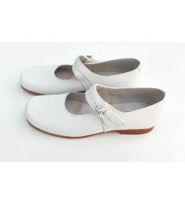 Zapato niña PIEL BLANCO