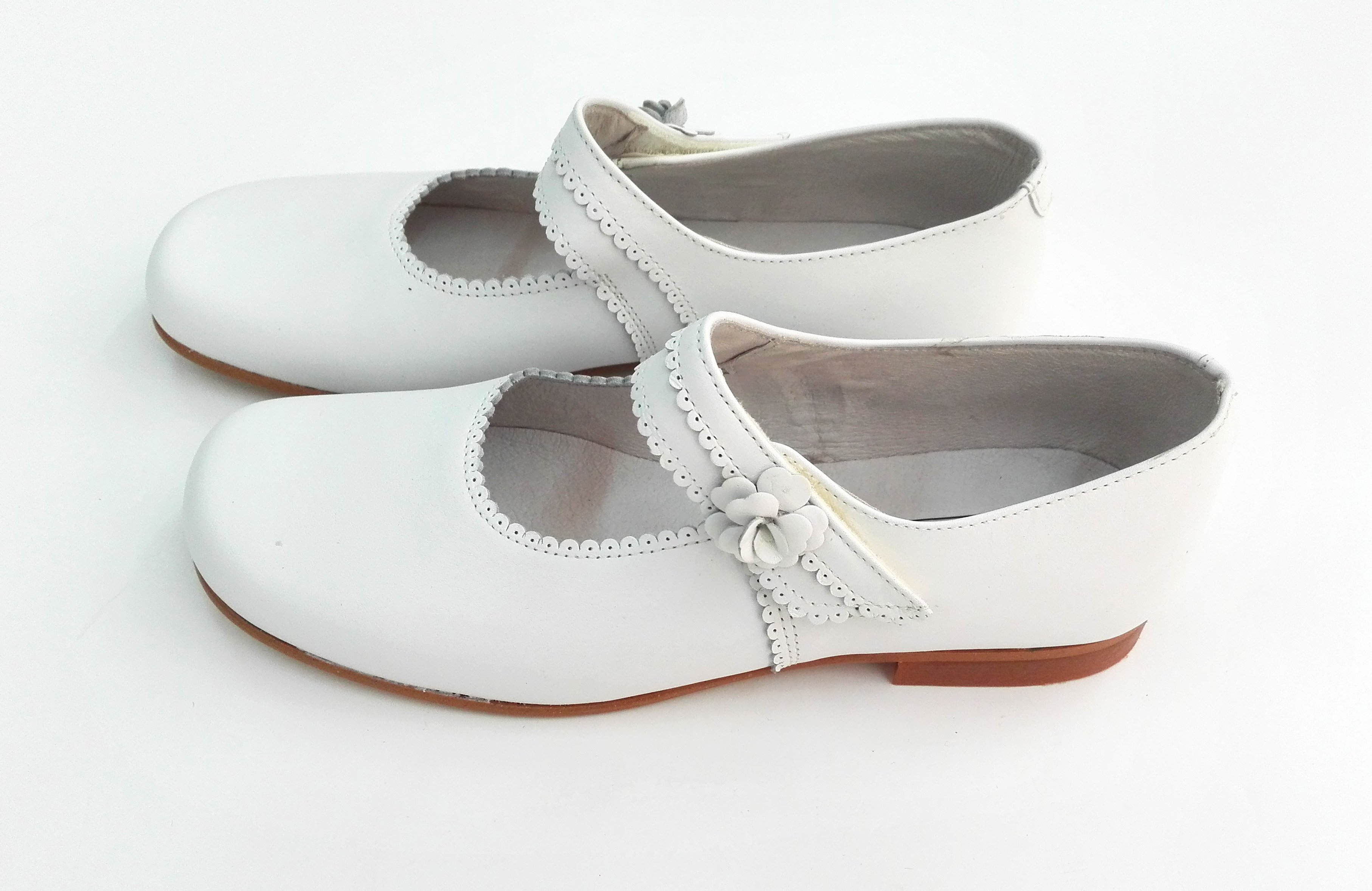 b49e82cb Zapato niña PIEL BLANCO - Arca Boutique Infantil-Juvenil