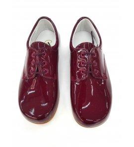 Zapato cordón CHAROL GRANATE
