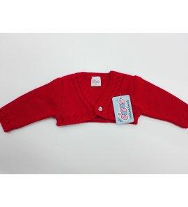 Chaqueta lana niño roja