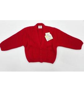 Chaqueta lana niño trenzada