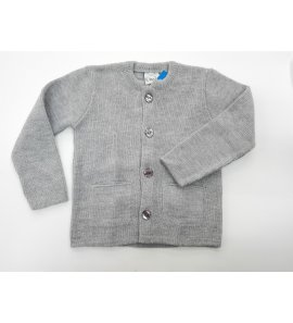 Chaqueta lana niño bolsillos