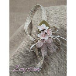 Cinta pelo lino flor nude