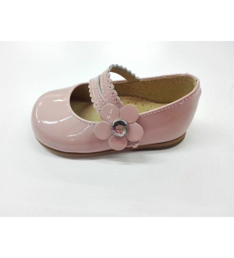 Zapato merceditas flor brill